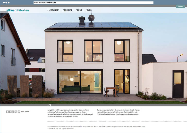 Website stkn architekten